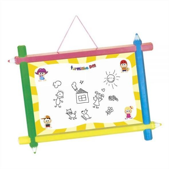 Lousa Quadro Dupla Face 2 em 1 Infantil Turminha DM Toys