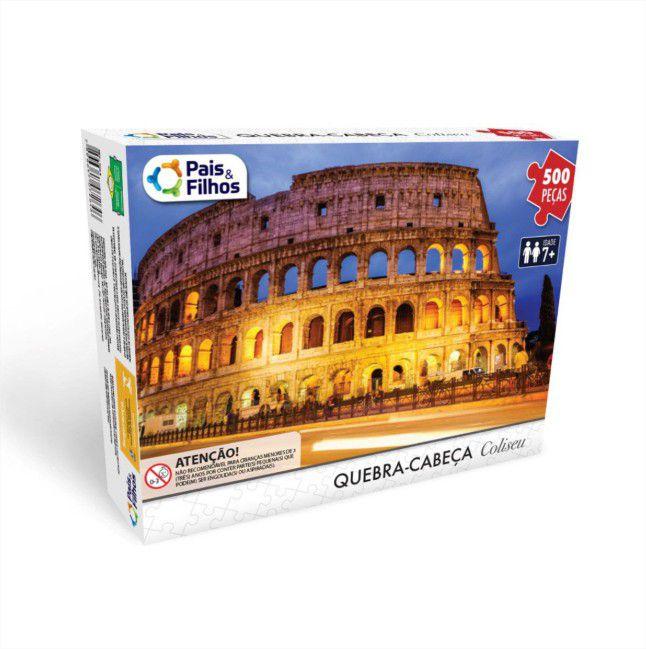 Quebra Cabeça Cartonado Coliseu 500 Peças Jogos Pais e Filhos