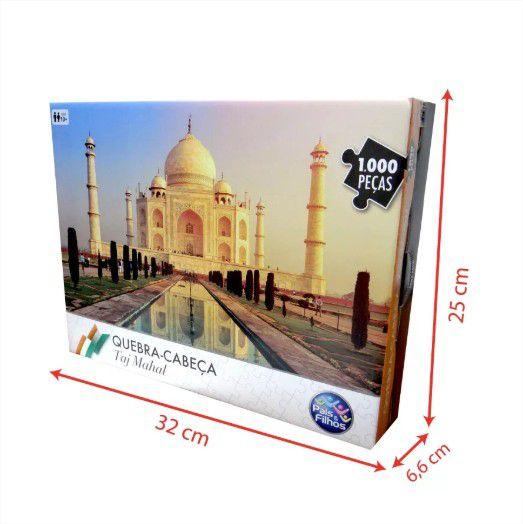 Quebra Cabeça Cartonado Taj Mahal 1000 Peças Jogos Pais e Filhos