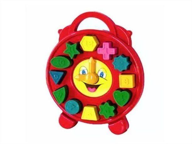 Relógio Educativo Brinquedo De Encaixe Pedagógico Divplast