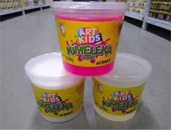 Slime Kimeleka Comum Big Balde 2,5 Kg Acrilex