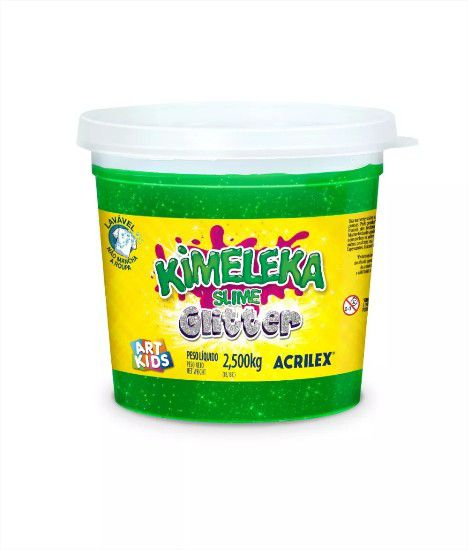 Slime Kimeleca Glitter Big Balde 2,5 Kg Acrilex