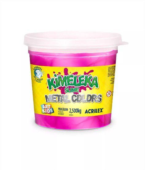 Slime Kimeleka Metálica Big Balde 2,5 Kg Acrilex