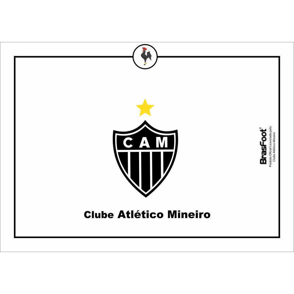 Tábua de vidro Churrasco Times Atlético Mineiro Galo Presente Brasfoot