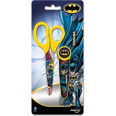 Tesoura Escolar Batman com Protetor Sortido Molin do Brasil