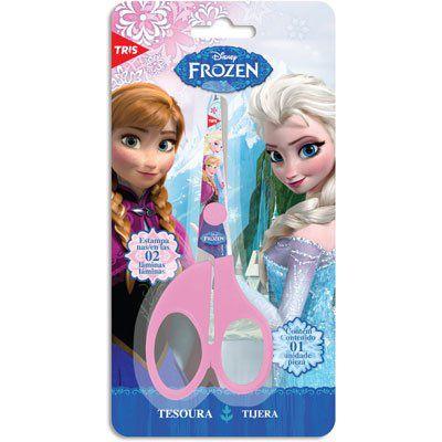 Tesoura Escolar Frozen sem Ponta Sortida Tris