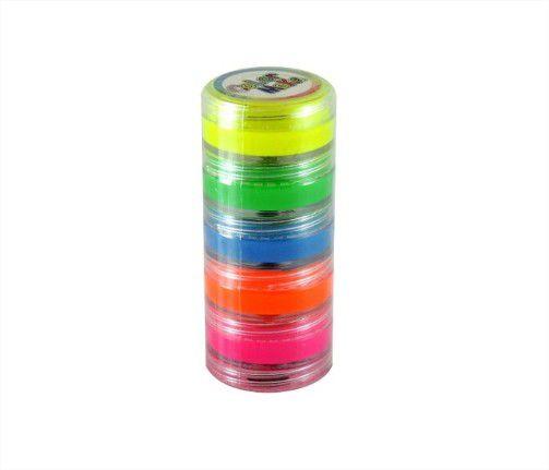Tinta Facil Cremosa Fluorescente Neon Kit com 5 Unidades Colormake