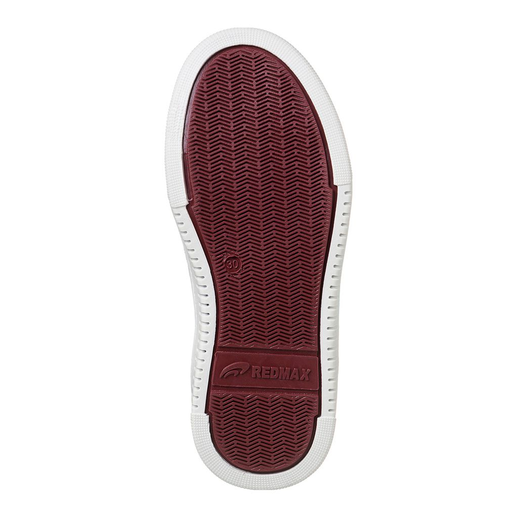 Sapatênis Juvenil Menino Velcro - Bordô - Link