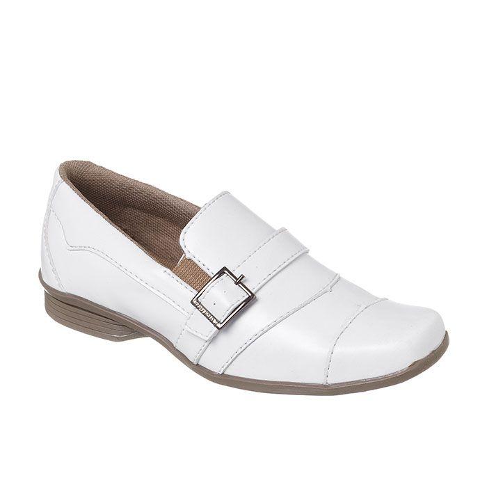 Sapato Social Infantil Masculino Branco + Cinto | Classic