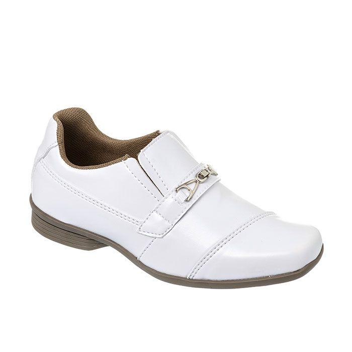 Sapato Social Juvenil Masculino Branco + Cinto | Classic