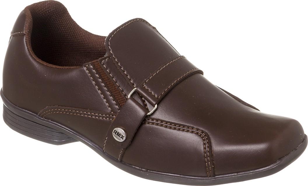 Sapato Social Juvenil Masculino Marrom + Cinto   Classic