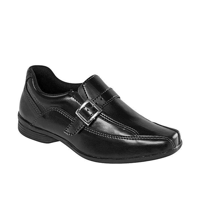Sapato Social Juvenil Masculino Preto + Cinto   Classic