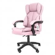 Cadeira Escritório Reclinável Presidente Kelter F04 Rosa
