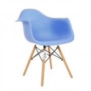Cadeira Eames Com Braços DAW Kelter KC233 Azul