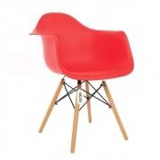 Cadeira Eames Daw Wood Com Braço Base Madeira Kelter