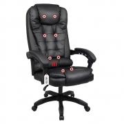 Cadeira Escritório Presidente Com Massageador e Aquecimento Kelter Preto V401