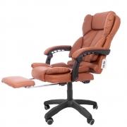 Cadeira Presidente Para Escritório Apoio De Pés Kelter F11 Marrom