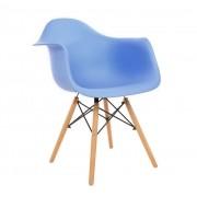Kit 2 Cadeiras Eames Com Braços DAW Kelter KC233 Azul