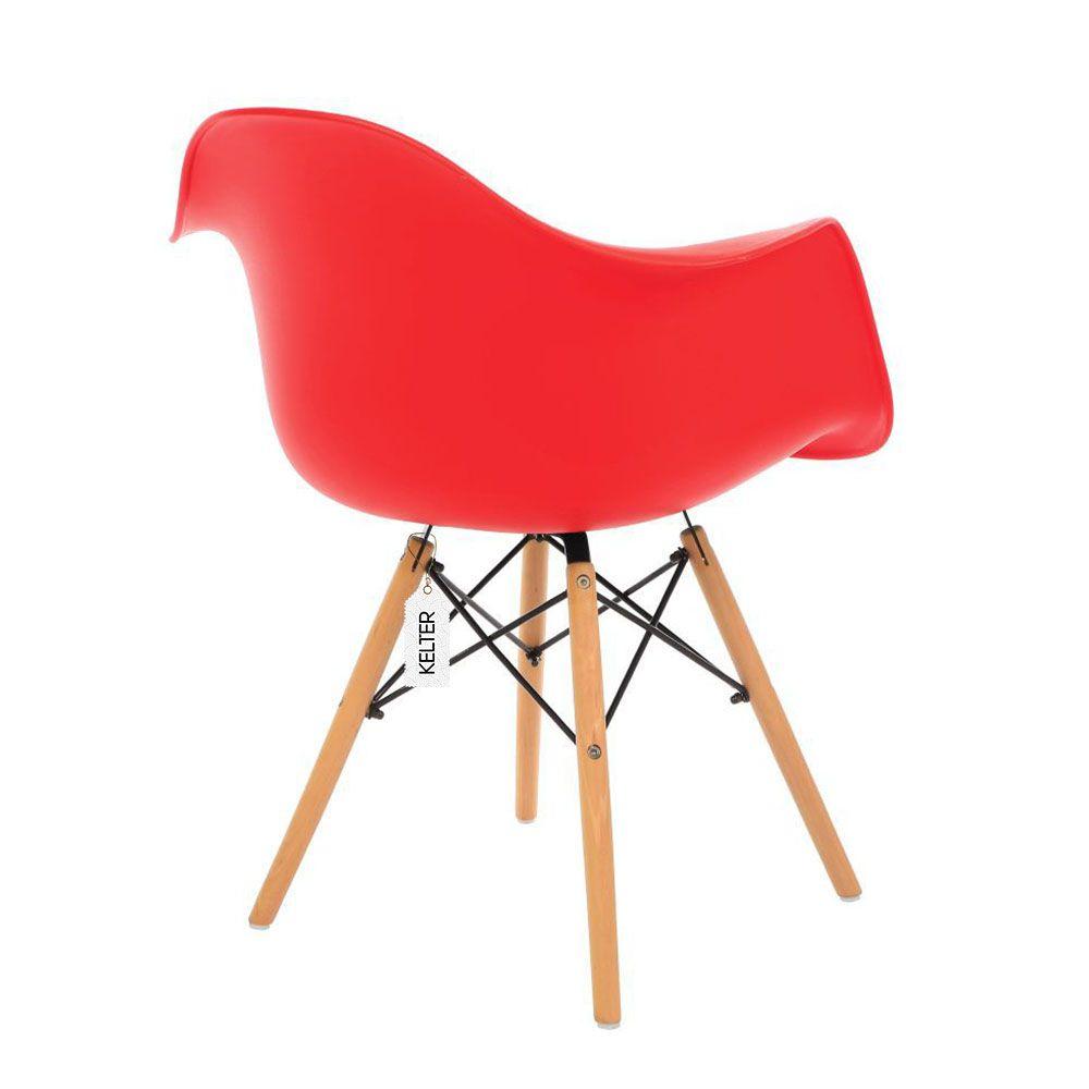 Cadeira Eames Daw Com Braços Vermelha Kelter KC36