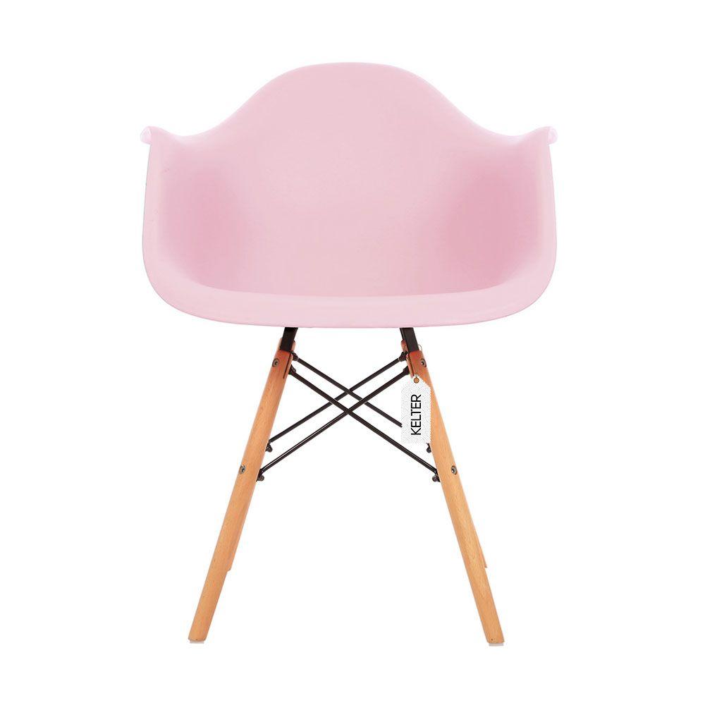 Cadeira daw eames com braços kelter KC235 rosa