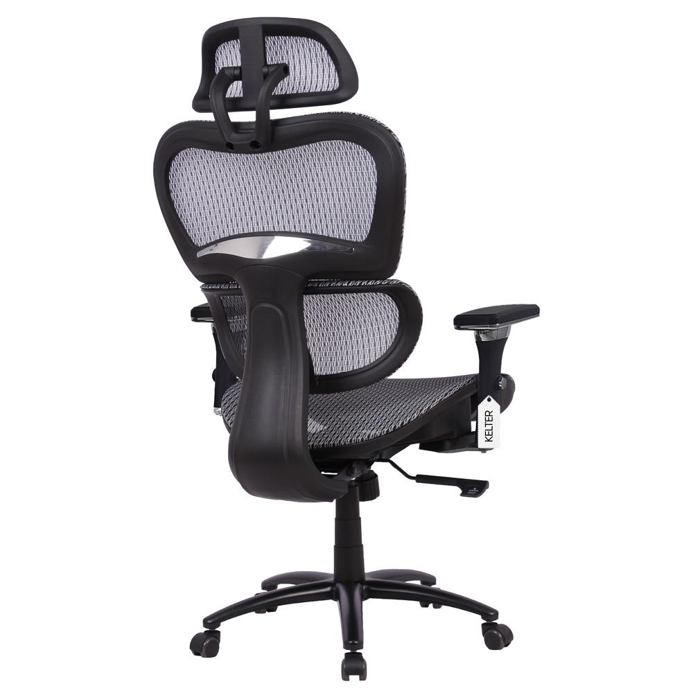 Cadeira de Escritório Ergonômica Presidente Tela Mesh Kelter Cinza V502