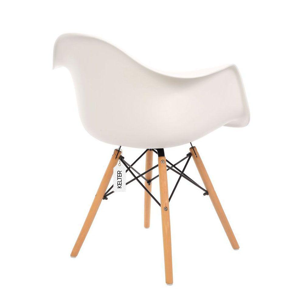 Cadeira Eames Com Braços DAW Kelter KC231 Branca