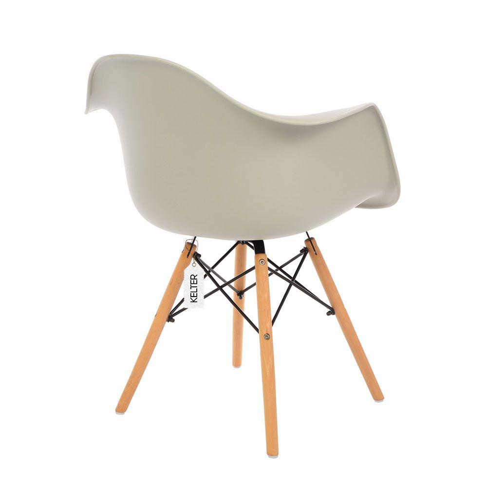 Cadeira Eames DAW Com Braços Kelter KC239 Nude