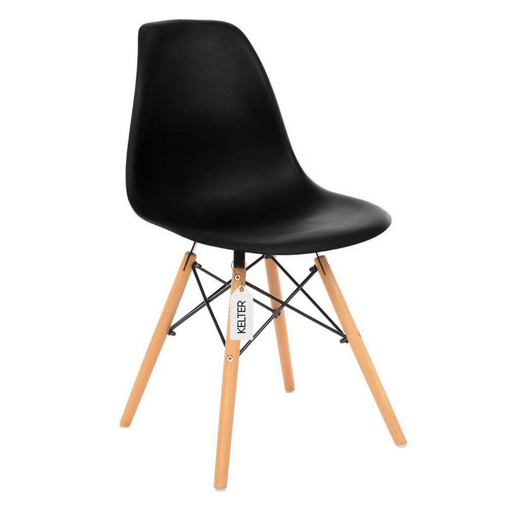 Cadeira Eames Eiffel DSW Kelter KC202 Preta