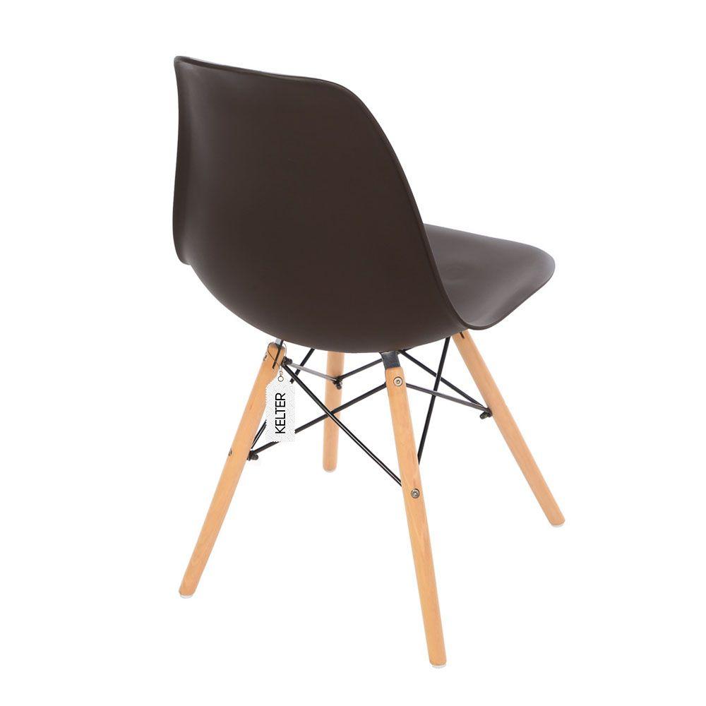 Cadeira Eames Eiffel DSW Kelter KC204 Marrom