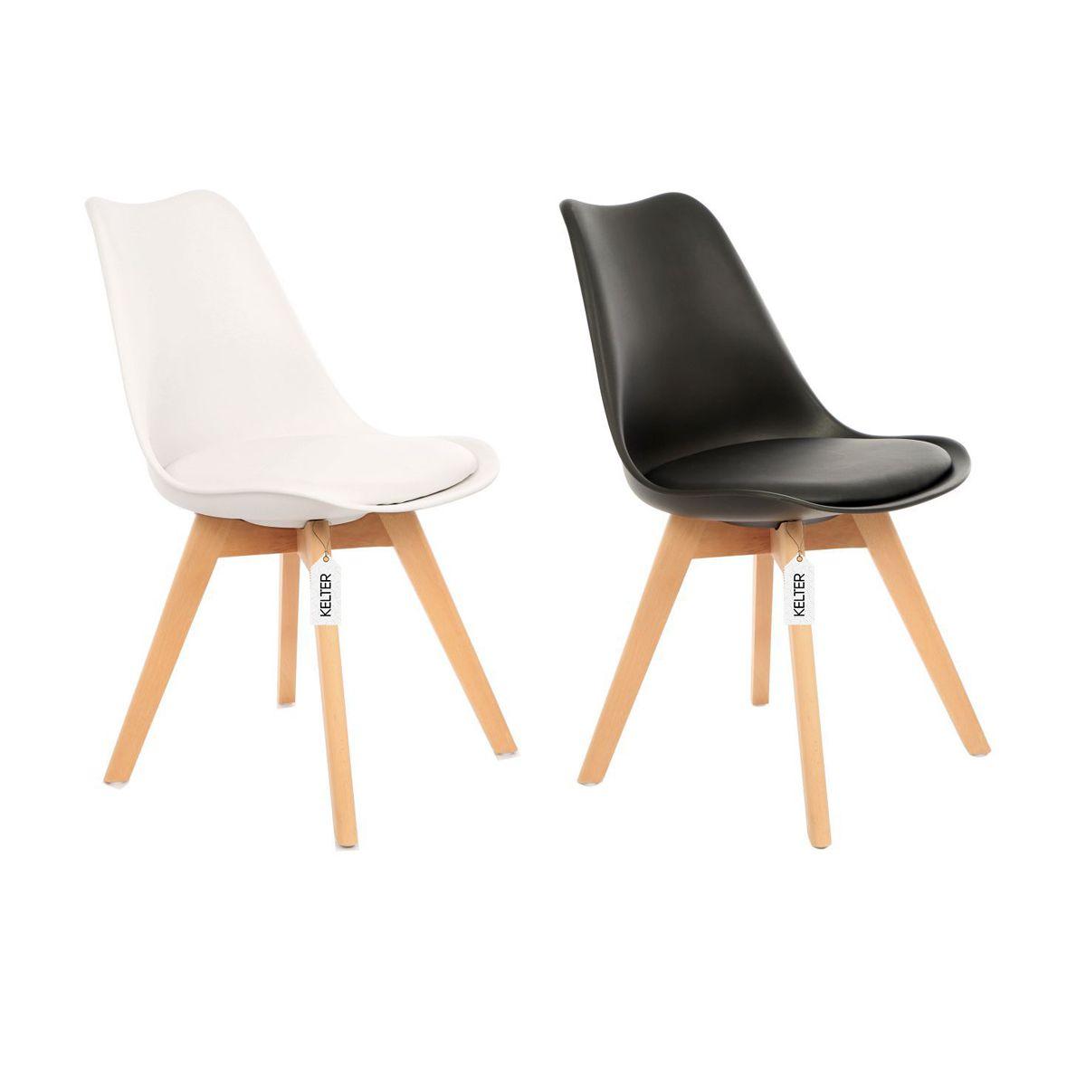 Cadeira Eames Leda Com Assento Estofado Kelter