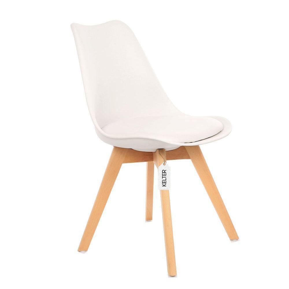 Cadeira Eames Leda Estofada Kelter KC251 Branca
