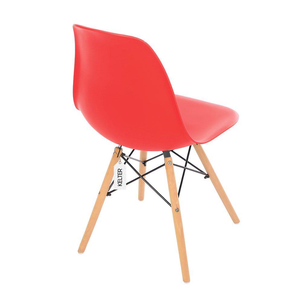 Cadeira eiffel eames dsw kelter Kc206 vermelha