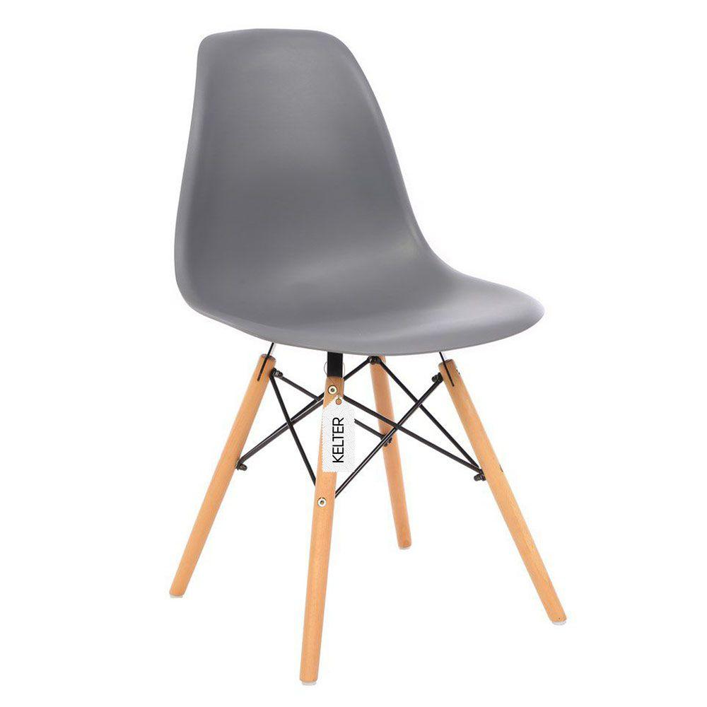 Cadeira Eiffel Eames DSW Kelter KC208 Cinza Escuro