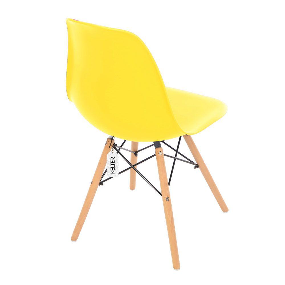 Cadeira Eiffel Sala Jantar Cozinha Eames Kelter Amarelo K-C211