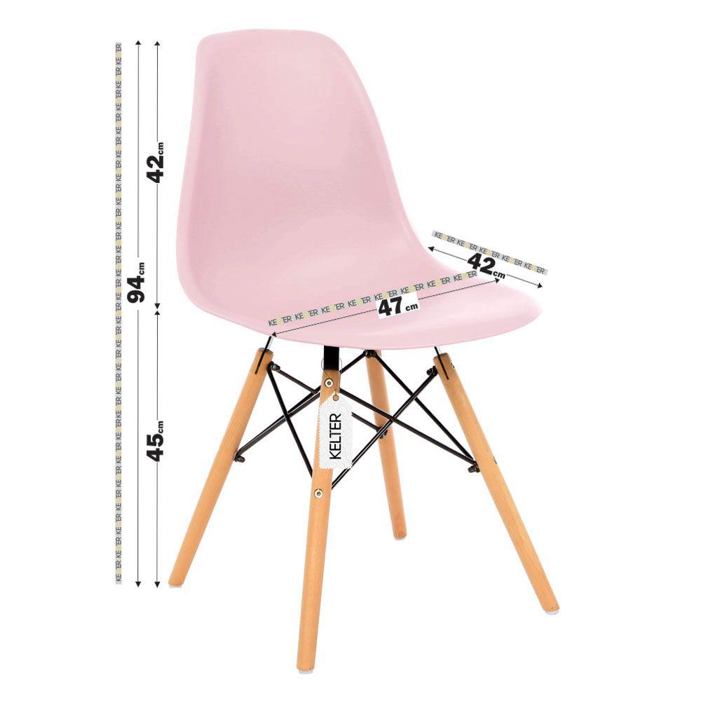 Cadeira Eiffel Sala Jantar Cozinha Eames Kelter Rosa K-C205