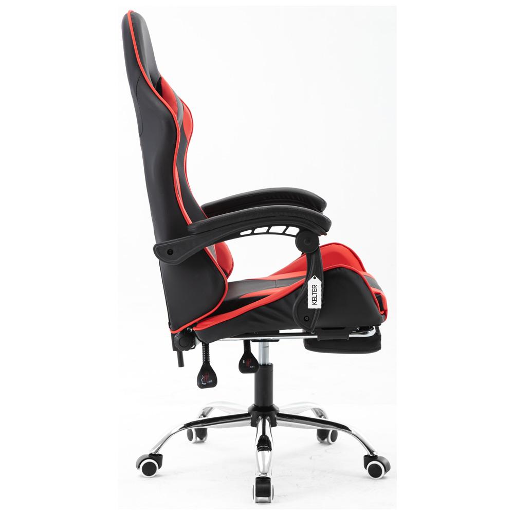 Cadeira Gamer Giratória Com Apoio de Pé Kelter Vermelha V7003p