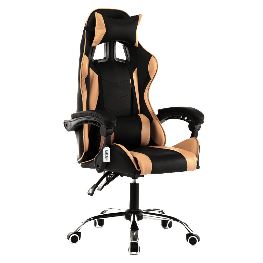 Cadeira Gamer Giratória Kelter Dourada V708
