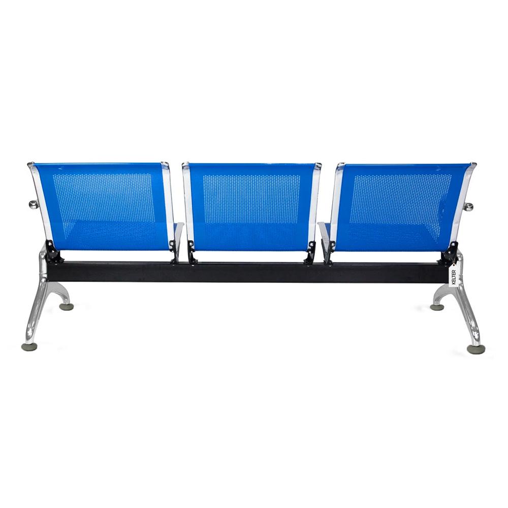 Cadeira Longarina 3 Lugares Assentos Espera Aeroporto Azul V923