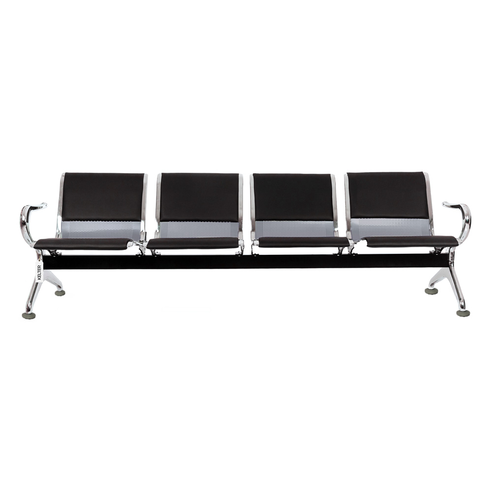 Cadeira Longarina 4 Lugares Assentos Aeroporto Estofados V904a