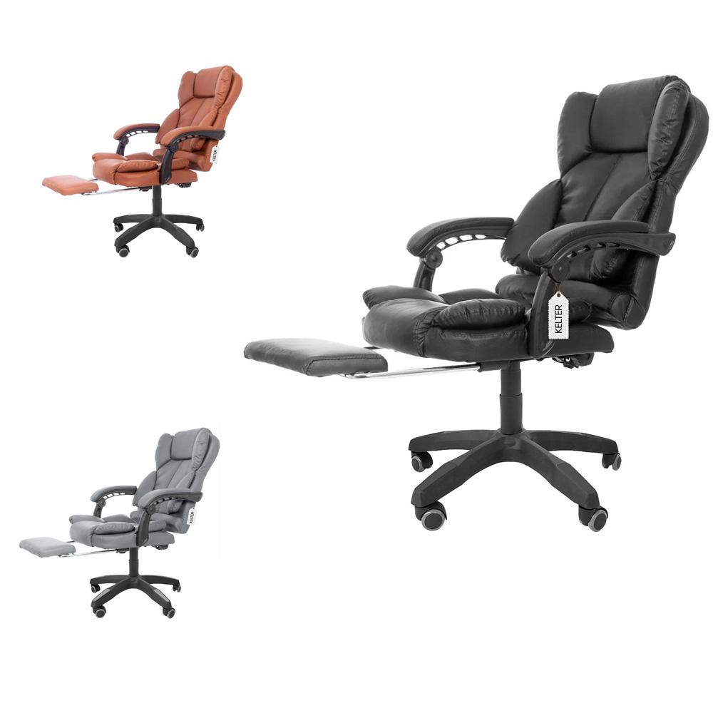 Cadeira Presidente De Escritório Kelter Com Descanso De Pés