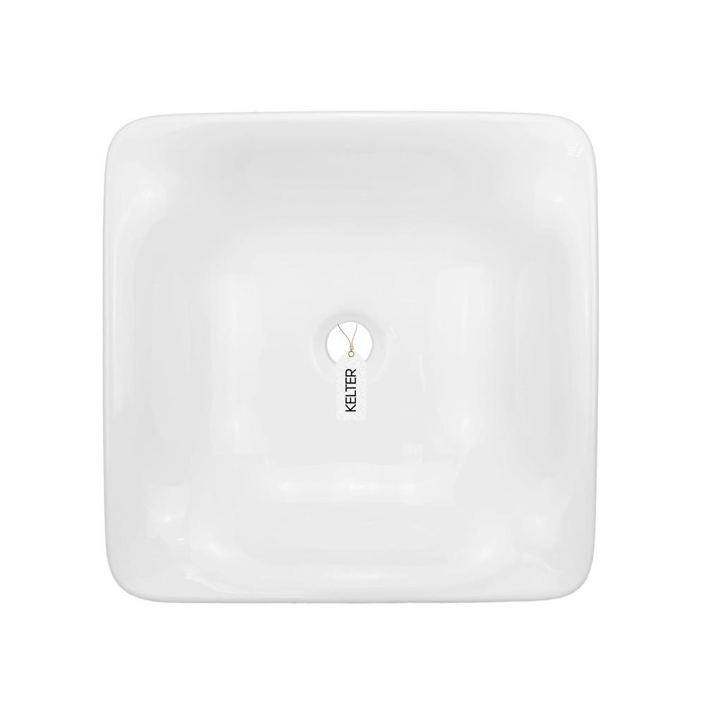 Cuba de apoio para banheiro pia quadrada de porcelana kelter CB01