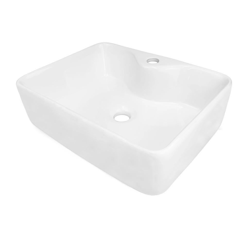 Cuba pia para banheiro retangular de porcelana kelter CB02