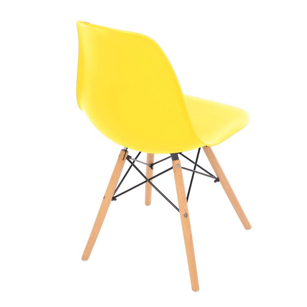 Kit 2 Cadeira Eiffel Sala Jantar Cozinha Escritório Eames Kelter Amarelo K-C211