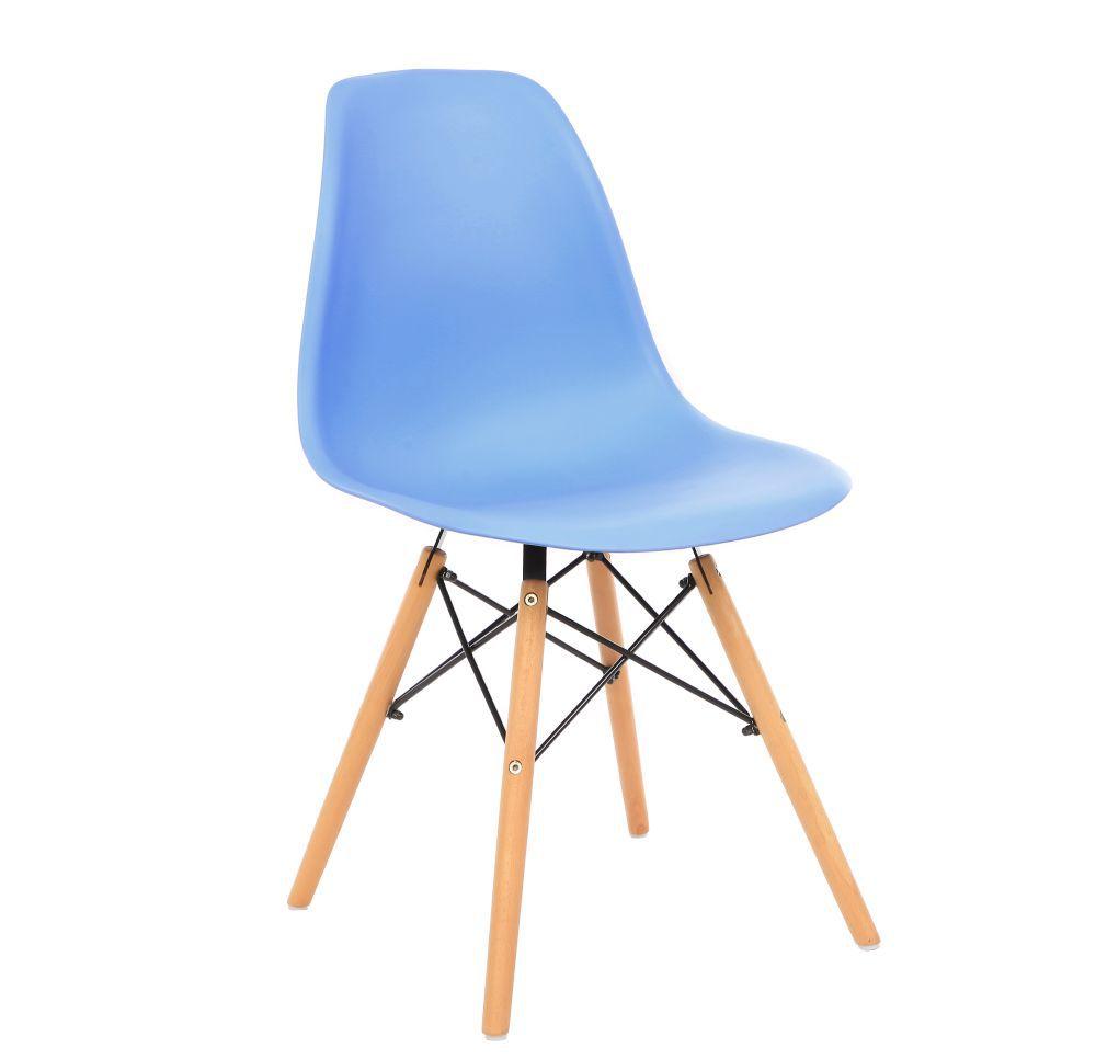 Kit 2 Cadeira Eiffel Sala Jantar Cozinha Escritório Eames Kelter Azul K-C203