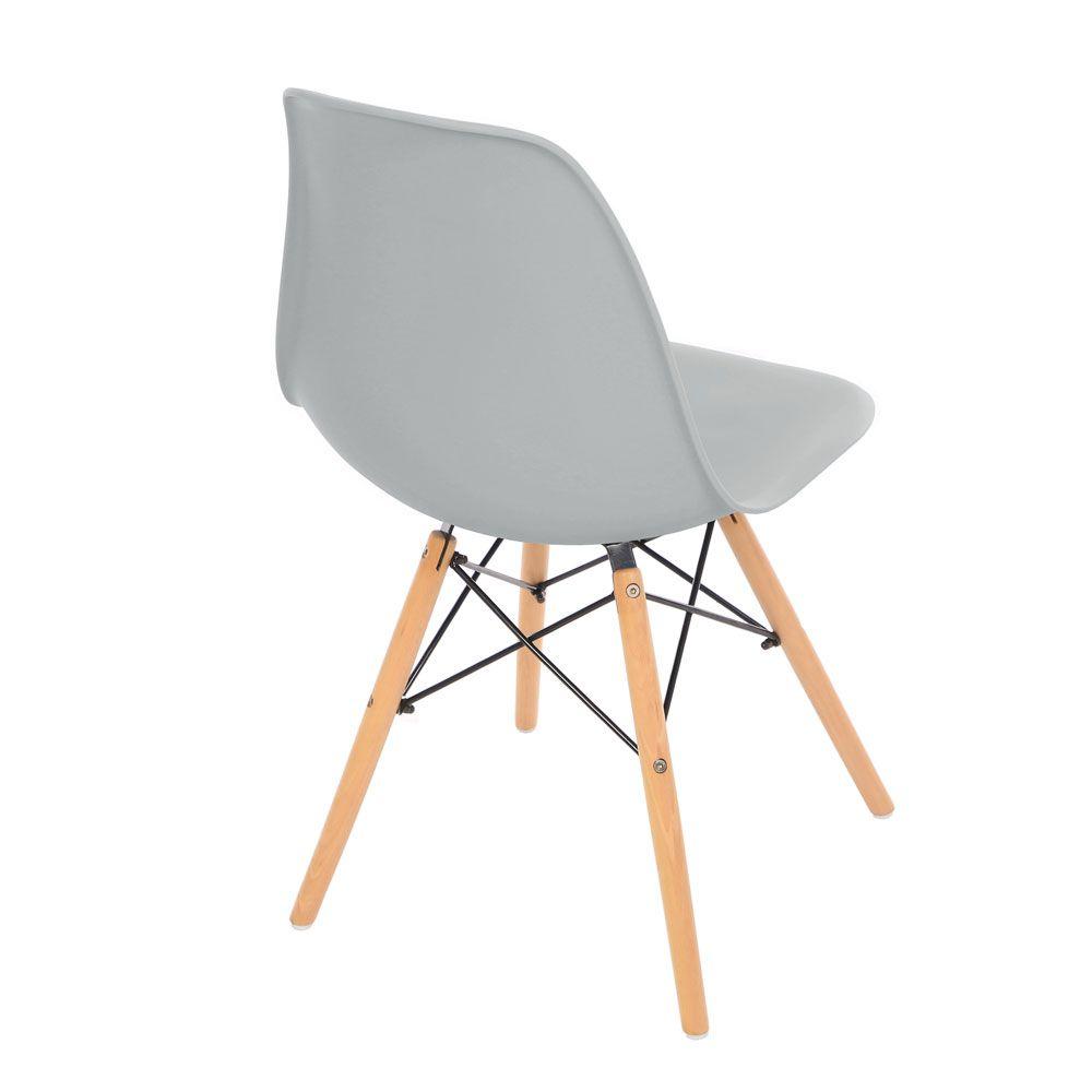 Kit 2 Cadeira Eiffel Sala Jantar Cozinha Escritório Eames Kelter Cinza Claro K-C207