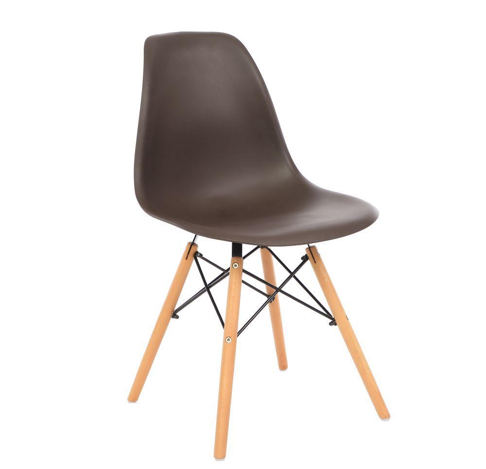 Kit 2 Cadeira Eiffel Sala Jantar Cozinha Escritório Eames Kelter Marrom K-C204