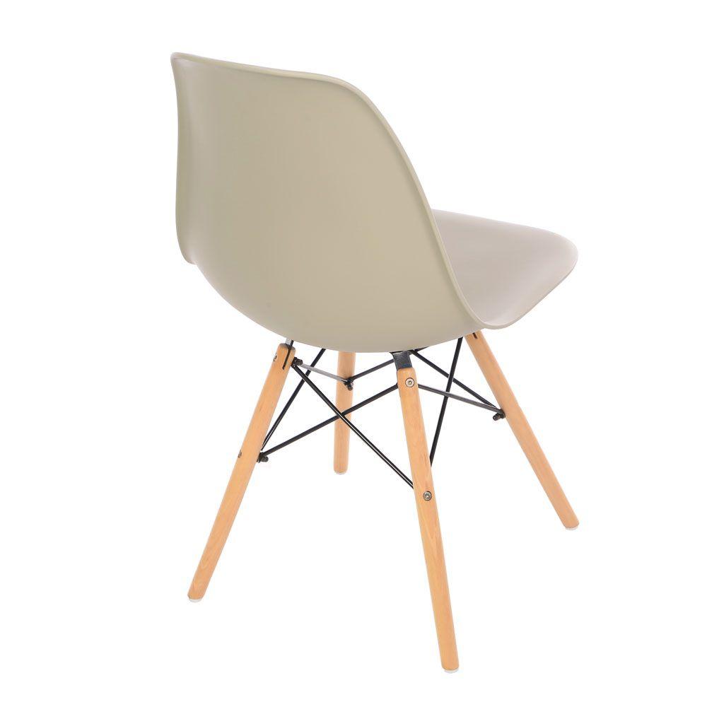 Kit 2 Cadeira Eiffel Sala Jantar Cozinha Escritório Eames Kelter Nude K-C209