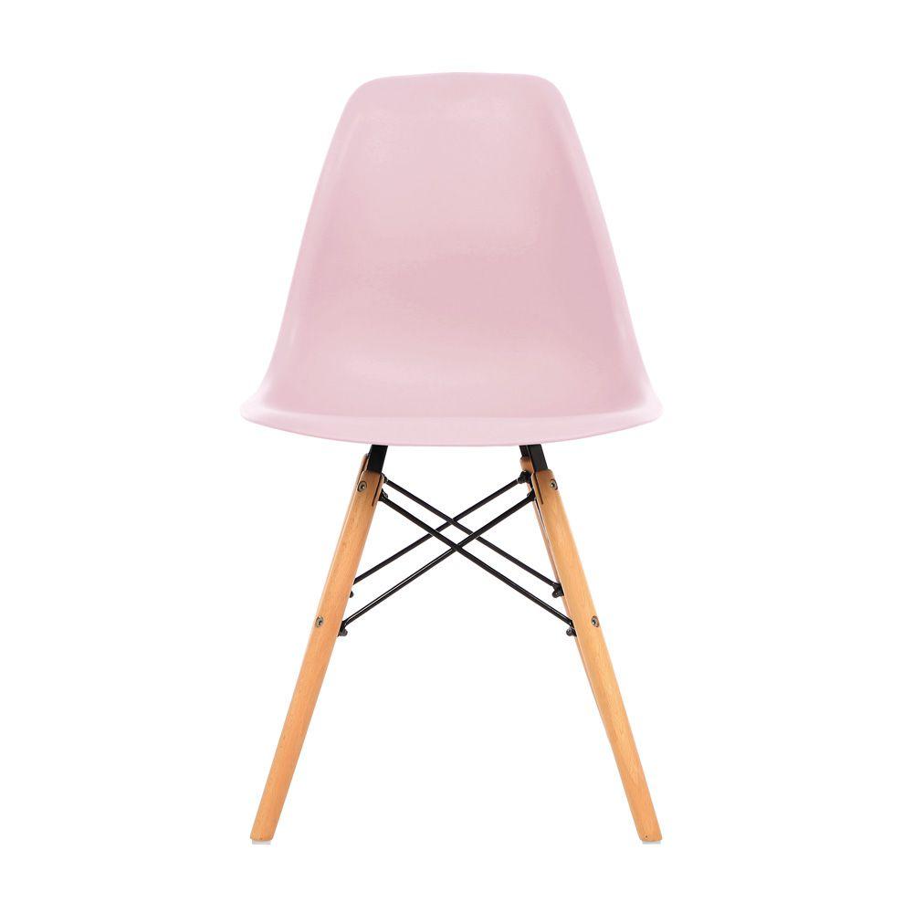 Kit 2 Cadeira Eiffel Sala Jantar Cozinha Escritório Eames Kelter Rosa K-C205