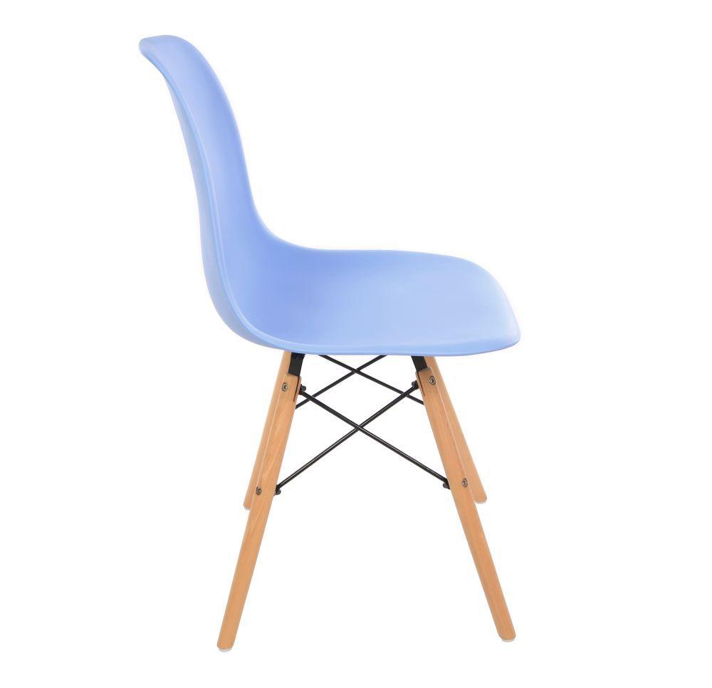 Kit 3 Cadeira Eiffel Sala Jantar Cozinha Escritório Eames Kelter Azul K-C203