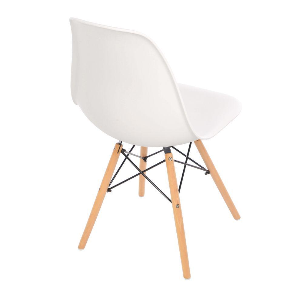 Kit 3 Cadeira Eiffel Sala Jantar Cozinha Escritório Eames Kelter Branca K-C201